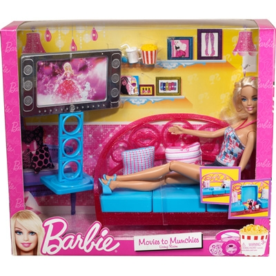Các chi tiết có trong Barbie Phòng giải trí tại gia