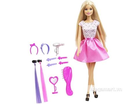 Barbie Thời trang tóc và phụ kiện gồm nhiều chi tiết đẹp