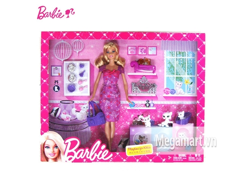 Hình ảnh bên ngoài sản phẩm Barbie và mèo cưng