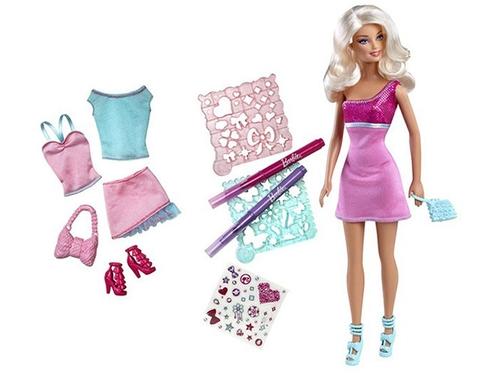 Búp bêBarbie Vui thiết kế cùng Barbie giúp bé phát triển tư duy sáng tạo, trí tưởng tượng và rèn luyện tính khéo léo