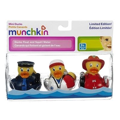 Hộp đựng bộ đồ chơi nhà tắm Munchkin Bộ 3 vịt bé gái