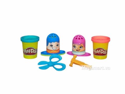 Play-Doh B3424 - Dụng cụ làm tóc mini - các chi tiết trong bộ sản phẩm