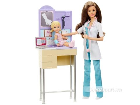 Barbie Bộ bác sĩ nhi khoa gồm nhiều chi tiết đẹp