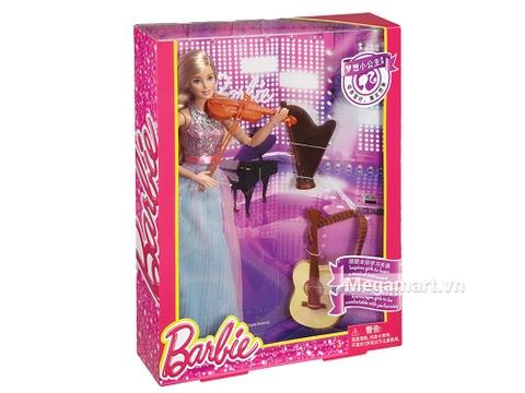 Barbie búp bê violin với 3 nhạc cụ tuyệt đẹp - 1