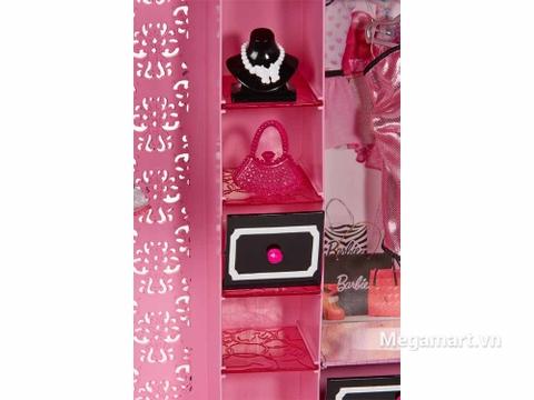 Barbie Tủ quần áo thời trang - phụ kiện tinh xảo
