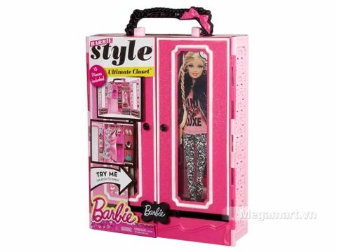 Barbie Tủ quần áo thời trang với vỏ hộp và đóng gói chắc chắn
