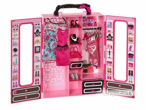 Barbie Tủ quần áo thời trang gồm nhiều chi tiết đẹp