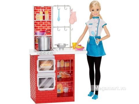 Barbie búp bê đầu bếp Spaghetti - Cùng bé vào bếp với bộ barbie