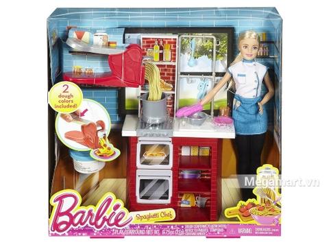 Barbie búp bê đầu bếp Spaghetti - Hình ảnh vỏ ngoài sản phẩm
