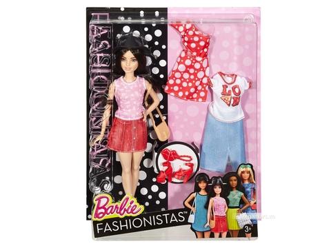 Barbie Fashionistas - Thời trang và phụ kiện, áo Pizza các chi tiết nhìn từ bên ngoài Vỏ hộp