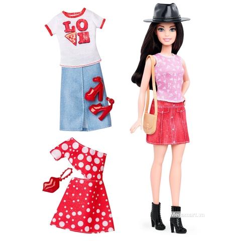 Barbie Fashionistas - Thời trang và phụ kiện, áo Pizza có áo và phụ kiện sàng điệu
