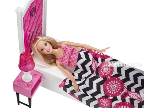 Barbie Ngôi nhà Barbie - Phòng ngủ có nhiều món đồ xinh đẹp sưu tập cho bé gái