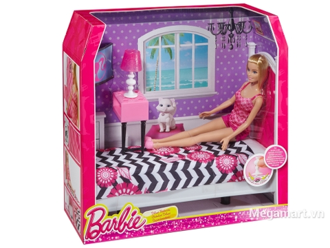 Barbie Ngôi nhà Barbie - Phòng ngủ giúp bé học thêm nhiều điều thú vị cùng Barbie
