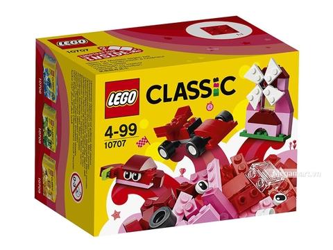 Hình ảnh vỏ hộp bộ Lego Classic 10707 - Hộp lắp ráp màu đỏ
