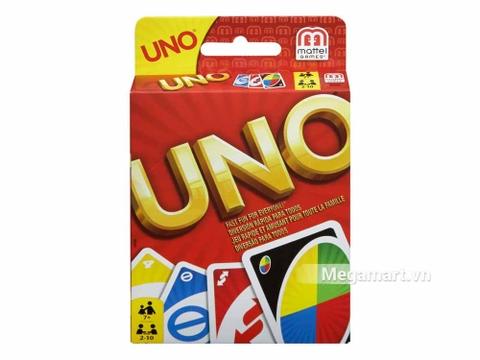 Hình ảnh vỏ hộp bộ Mattel Games Bài Uno