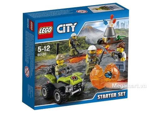 Vỏ hộp bộ Lego City 60120 - Bộ lắp ráp núi lửa khởi đầu