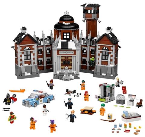 Các mô hình ấn tượng trong bộ Lego Batman Movie 70912 - Bệnh viện thần kinh Arkham Asylum