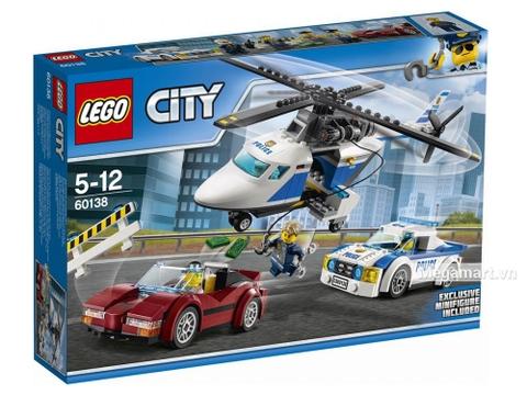 Hình ảnh vỏ hộp bộ Lego City 60138 - Cuộc truy đuổi tốc độ