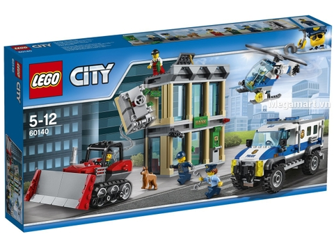 Hình ảnh vỏ hộp bộ Lego City 60140 - Xe ủi vượt ngục