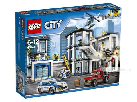 Hình ảnh vỏ hộp bộ Lego City 60141 - Trạm cảnh sát