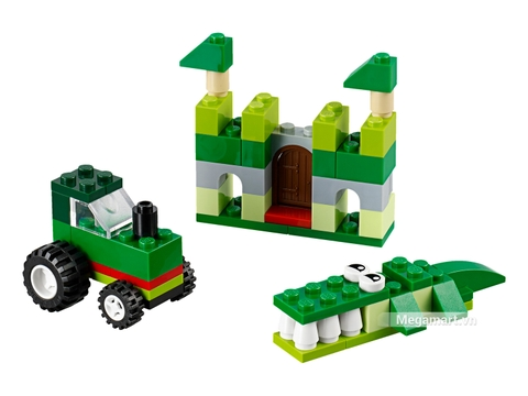 Mô hình ấn tượng của Lego Classic 10708 - Hộp lắp ráp màu xanh lá