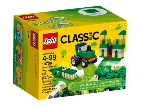 Vỏ hộp của Lego Classic 10708 - Hộp lắp ráp màu xanh lá
