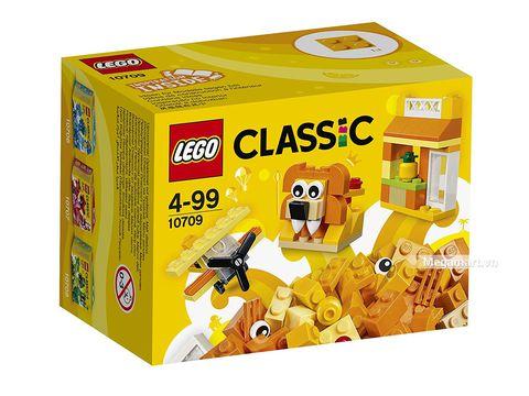 Vỏ hộp của bộ xếp hình Lego Classic 10709 - Hộp lắp ráp màu cam