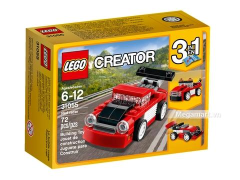 Hình ảnh vỏ hộp bộ Lego Creator 31055 - Xe đua đỏ mini