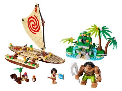 Các mô hình ấn tượng trong bộ Lego Disney Princess 41150 - Hành trình khám phá đại dương của Moana