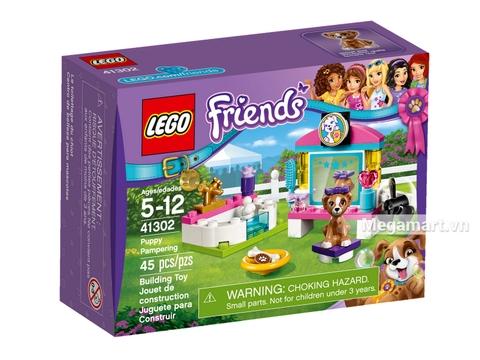 Hình ảnh vỏ hộp bộ Lego Friends 41302 - Bộ chăm sóc cún cưng