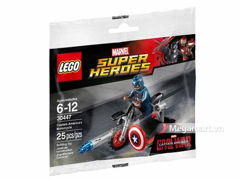 Hình ảnh vỏ hộp bộ Lego Super Heroes 30447 - Mô-tô của Captain America