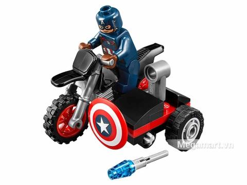 Các mô hình ấn tượng trong bộ Lego Super Heroes 30447 - Mô-tô của Captain America