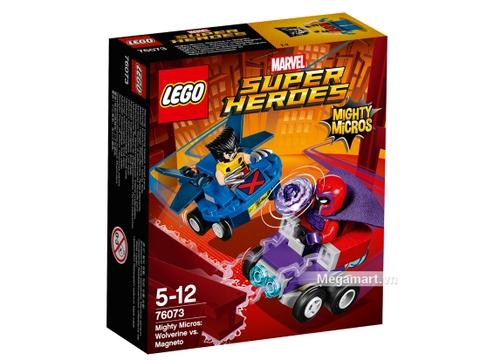 Hình ảnh vỏ hộp bộ Lego Super Heroes 76073 - Người sói đại chiến Magneto