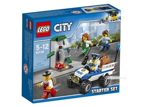 Hình ảnh vỏ hộp bộ Lego City 60136 - Bộ cảnh sát khởi đầu