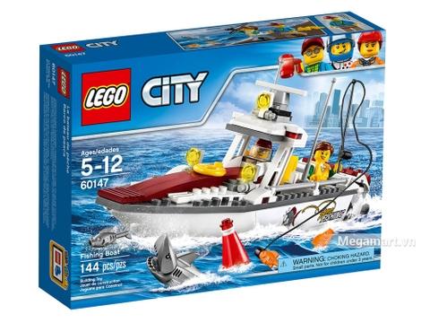Hình ảnh vỏ hộp bộ Lego City 60147 - Thuyền đi câu