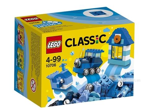 Hình ảnh vỏ hộp bộ Lego Classic 10706 - Hộp lắp ráp màu xanh da trời
