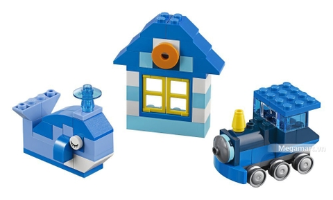 Các mô hình ấn tượng trong bộ Lego Classic 10706 - Hộp lắp ráp màu xanh da trời
