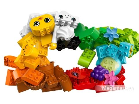 Các chi tiết chính trong bộ xếp hình Lego Duplo 10817 - Hộp gạch Duplo sáng tạo