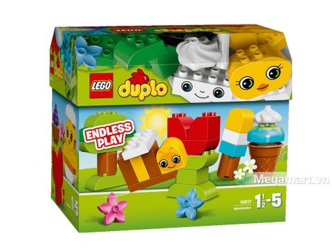 Vỏ hộp sản phẩm Lego Duplo 10817 - Hộp gạch Duplo sáng tạo nhìn từ mặt trước