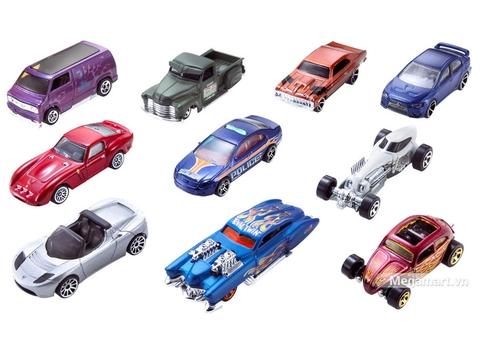 Hot Wheels Bộ 10 siêu xe cơ bản - đồ chơi cho bé yêu xe
