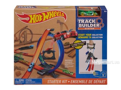 Vỏ hộp bộ sản phẩm đường đua Hot Wheels Bộ đường đua khởi đầu