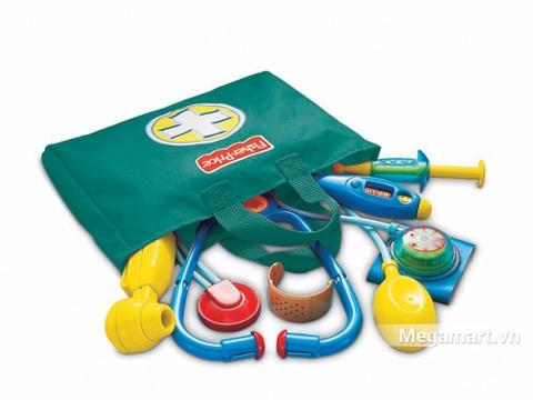 Fisher Price Bộ đồ chơi bác sĩ có chi tiết sinh động, đảm bảo an toàn