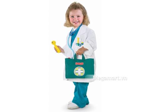 Fisher Price Bộ đồ chơi bác sĩ cho bé trải nghiệm nhiệm vụ hấp dẫn
