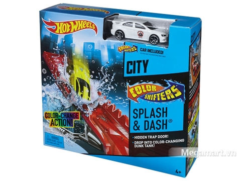 Hot Wheels đường đua đổi màu - Thử thách vũng nước - bộ đồ chơi sáng tạo