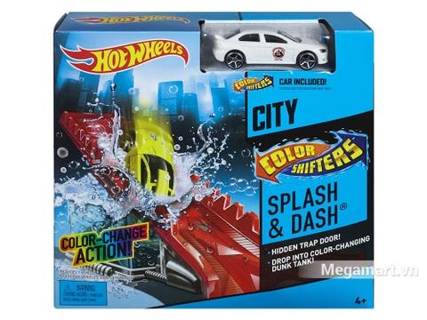 Hình ảnh vỏ hộp bộ Hot Wheels đường đua đổi màu - Thử thách vũng nước