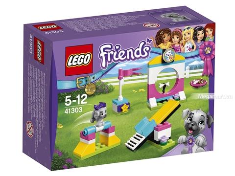 Hình ảnh vỏ hộp bộ Lego Friends 41303 - Sân chơi cún cưng
