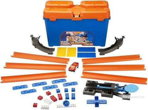 Hot Wheels Bộ hộp đựng phụ kiện lắp ráp đường đua sáng tạo - đồ chơi cho bé yêu xe