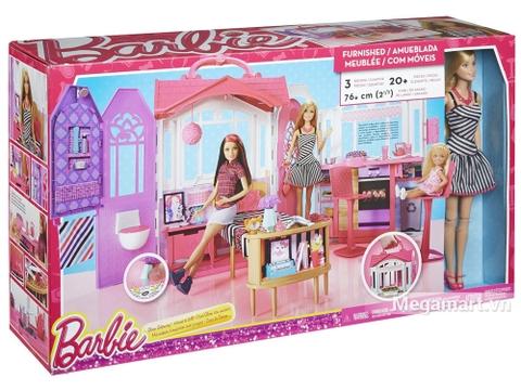 Barbie Ngôi nhà di động Vỏ hộp sản phẩm
