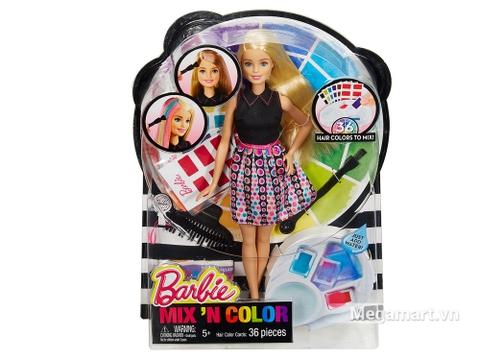 Barbie Thời trang tóc sắc màu bao gồm cô nàng búp bê Barbie và nhiều phụ kiện