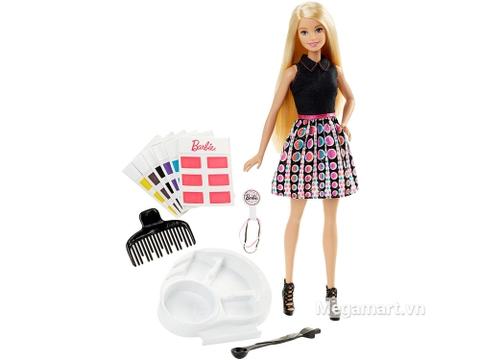 Barbie Thời trang tóc sắc màu giúp bé thỏa sức sáng tạo kiểu tóc mới cho Barbie